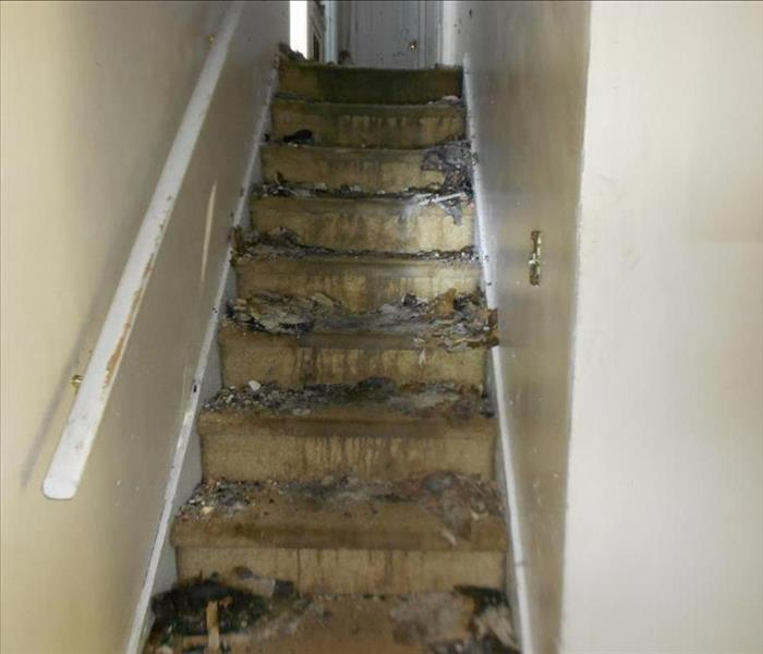 Fire Causes Damage to Stairwell Before
