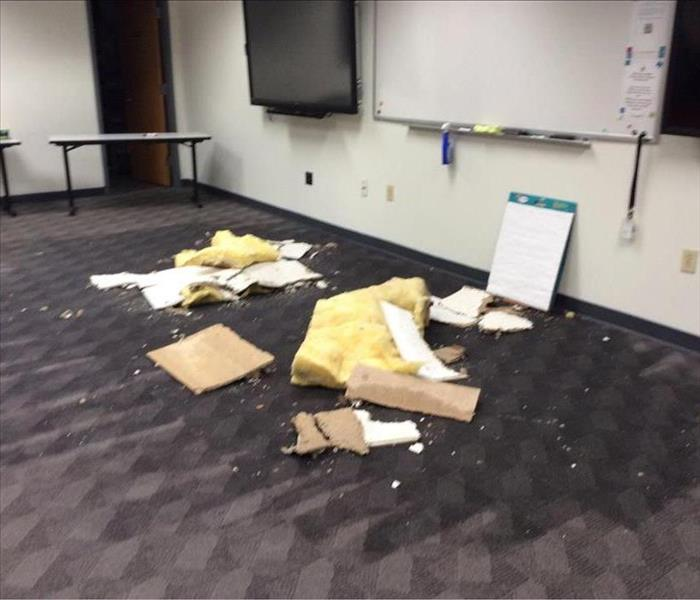 Water Damage in Conference Room!