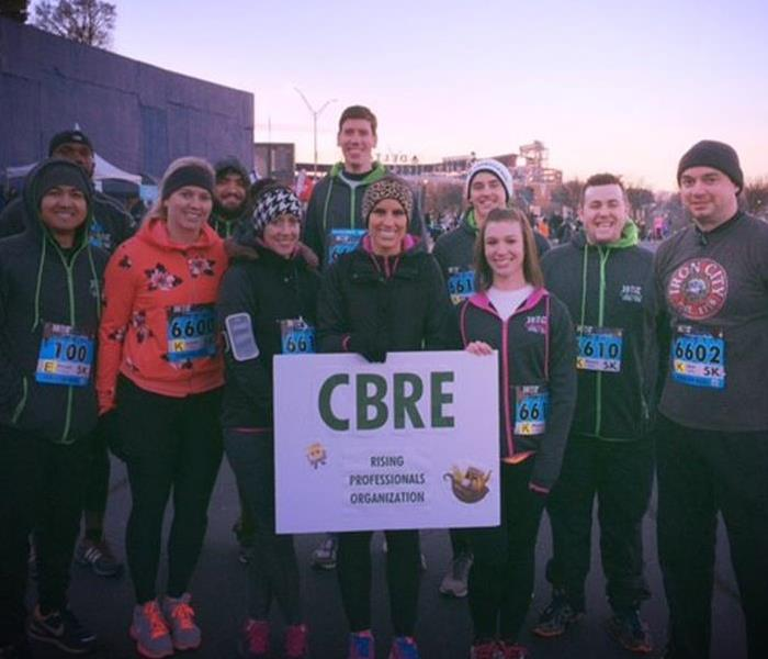 Commercial SERVPRO Sponsors CBRE at Hot Chocolate 5K